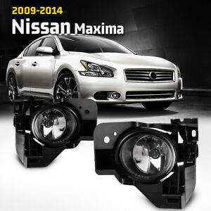Fog Lights For 2009 2014 Nissan Maxima Aftermarket Driving Lamp Pair Wiring Kit