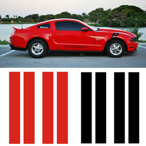 Universal Fit Car Rally Side Hood Hash Dual Fender Stripes Vinly Decal Sticker