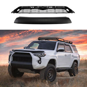 Front Bumper Mesh Grille Replacement Cover For Toyota 4runner Trd Pro 2014 2019