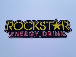 10 Set 10x Rockstar Energy Drink 6 Sticker Decal Motorcycles Motorcross Bmx R1