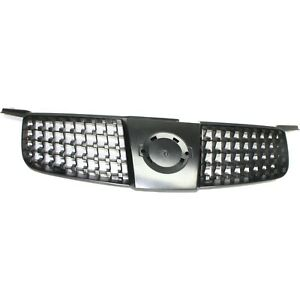 Grille For 2004 2006 Nissan Sentra Gray Plastic
