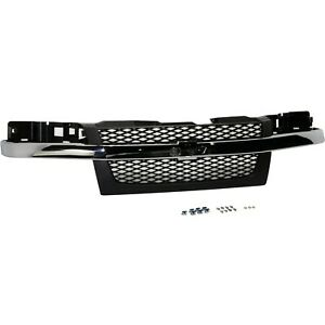 Grille Assembly For 2004 2012 Chevy Colorado W Chrome Center Bar
