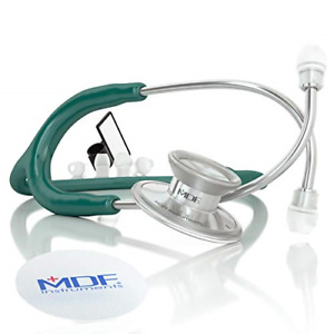 Acoustica Deluxe Lightweight Dual Head Stethoscope Free parts Life Aqua Green