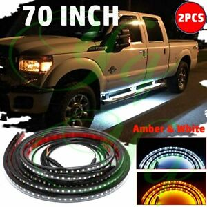 70 Inch Running Board Led Light Kit Side Step Bar Turn Signal Drl Strip For Ford