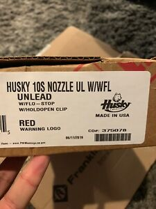 Husky 159559 02 Red Unleaded Gas Nozzle With Splash Guard