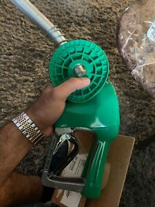 Husky Fuel Gas Nozzle Bp Green With Swivel Has Hose And With Breakaway Brand New