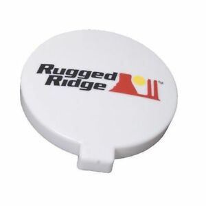 Off Road Light Cover 6 inch White Each Rugged Ridge X 15210 54