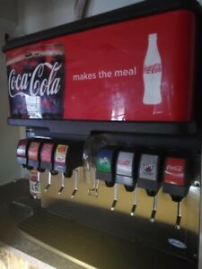 8 Spout Coca Cola Branded Commercial Fountain Dispenser