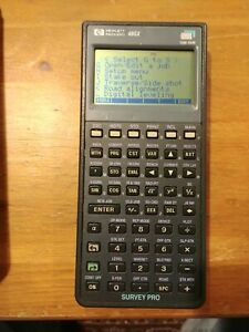 Hp 48gx Calculator W Tds Survey Pro Card And A 1mb Ram Card And Protective Case