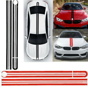 Stripe Car Full Body Decal Hood Roof Rear Trunk Sticker For Bmw 1 2 3 5 7 Series