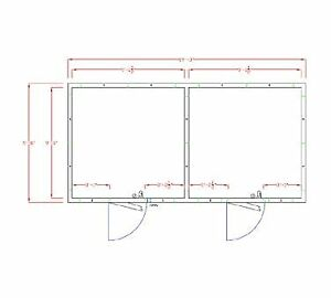 American Panel 10x20 i 231 Self contained Walk In Combination Cooler Freezer