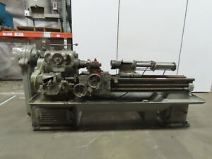 American 14 x 60 Gap Bed Metal Lathe Converted To A Spinning Lathe 208v 3ph