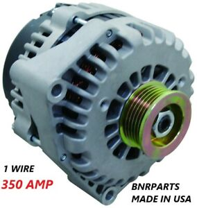 350 Amp 1 Single Wire Alternator Gmc Chevy Cadillac High Output New