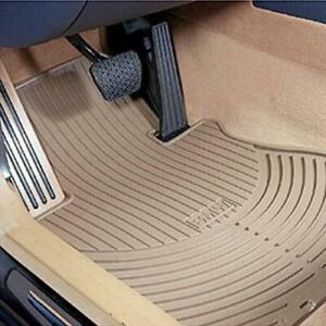 Genuine Front Beige All Weather Rubber Floor Mats Set For Bmw E60 E61 5 series