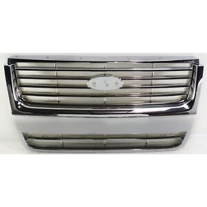 Grille For 2006 2008 Ford Explorer Chrome Plastic