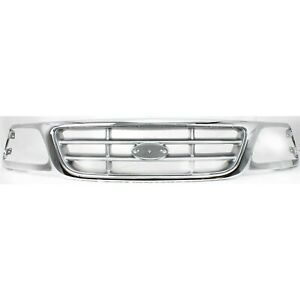 Grille For 99 04 Ford F 150 04 F 150 Heritage Chrome Shell With Paintable Insert
