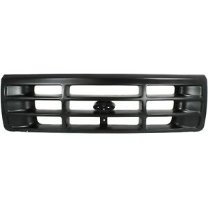 Grille For 92 97 Ford F 150 F 250 Painted Black Plastic