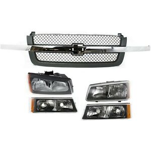 New Auto Body Repair Kit Front For Chevy Avalanche Chevrolet Silverado 1500 2500