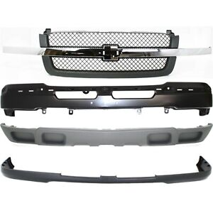 Bumper Cover Kit For 2003 2006 Chevy Silverado 1500 Front 4pc