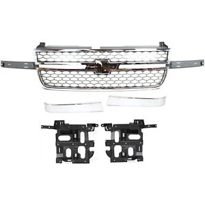 Grille Headlight Bracket For 2003 2006 Chevrolet Silverado 2500 Hd Kit