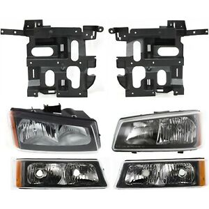 Headlight Kit For 2003 2006 Chevrolet Silverado 1500 Left And Right 6pc