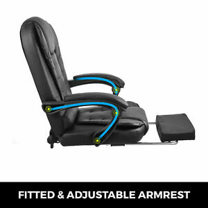 High Back Leather Executive Office Chair Desk Task Computer Chair W Footrest