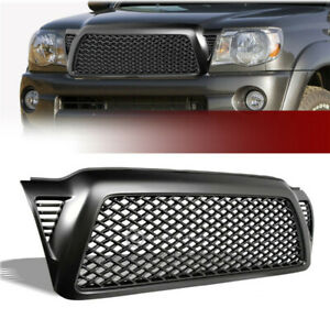For Toyota Tacoma 2005 2011 Black Honeycomb Mesh Front Bumper Grill Grille