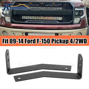Fit 2009 2014 Ford F 150 Front Bumper Grille 30 Off Road Led Light Bar Mount