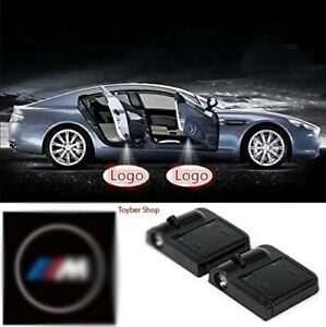 2x Wireless Led No Drill Logo Light Shadow Car Door Projector Laser For Bmw M