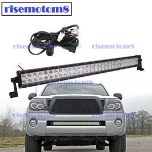Front Bumper Hidden Grille 30 Led Light Bar Wire For 2005 2015 Toyota Tacoma