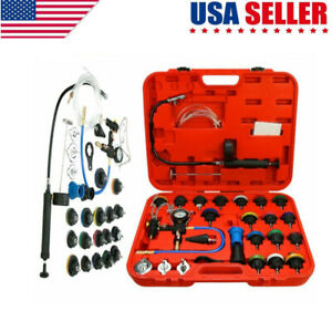 28pcs Universal Radiator Pressure Tester Kit Coolant Vacuum Type Cooling System