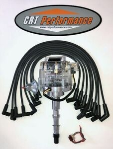Amc Jeep 290 304 343 360 390 401 Hei Distributor Clear Black 8mm Wires Usa