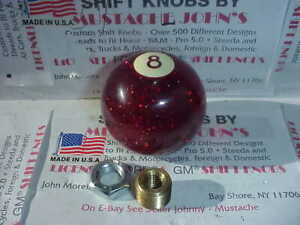 Red Glitter 8 Ball 1960 S 70 S Retro Style Custom Shift Knob Usa In Made