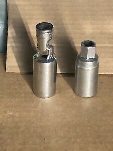 Snap On 13 16 S9704cfu S9704e 3 8dr Flex Head 6 Pt Spark Plug Sockets