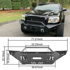Assembled Front Bumper Guard W Winch Plate For 2005 2015 2nd Gen Toyota Tacoma