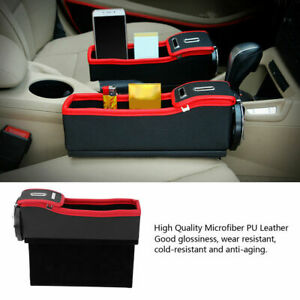 1x Car Seat Gap Crevice Organizer Storage Box Bag Holder Pocket For Wallet Phone