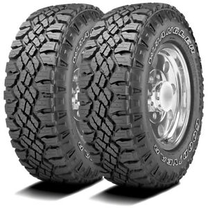 2 New Goodyear Wrangler Duratrac Lt 285 70r17 Load E 10 Ply At All Terrain Tires