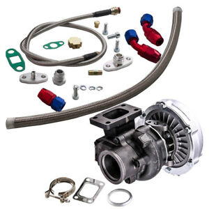 T04e T3 t4 A r 63 73 Trim 420 hp Stage Iii Turbo Charger oil Line Kits