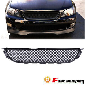 Fits 2001 2005 Lexus Is300 Glossy Black Jdm Diamond Front Grill Hood Mesh Grille