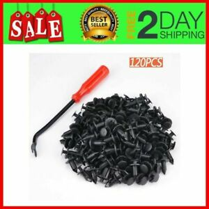 120 PCS 8mm ATV Fender Clips Push Body Rivets Fasteners Clamps for RZR