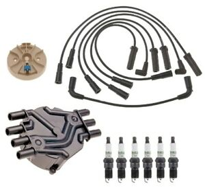 Acdelco Ignition Kit Distributor Rotor Cap Wire Spark Plugs For Chevy Gmc 4 3l