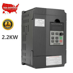 2 2kw 220v Vfd Variable Frequency Speed Controller Inverter Single To 3 Phase