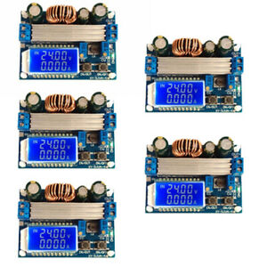 5pcs Step Up Down Power Supply Module Boost Buck Voltage Regulator Lcd Display