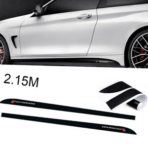 Performance 2 15m Glossy Black Side Skirt Sill Decal Stripe Stickers For Bmw