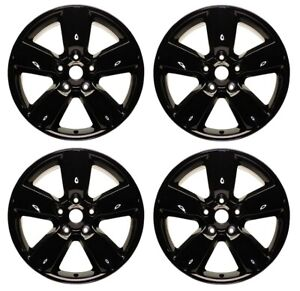 New Set Of 4 20 X 8 Black Replacement Wheel Rim For 2013 2020 Dodge Ram 1500