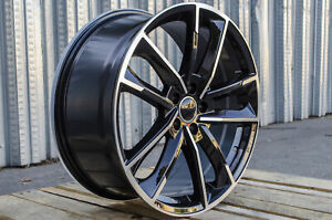 19x8 5 5x112 35 Rs Style Black Machined Wheels Fits Audi S3 S4 S5 S6 Rs 3 Rs 4