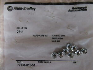 Allen Bradley 77131 015 51 Nuts Hardware Kit For 2711 Panel View pack Of 8