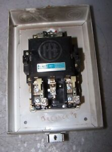 Ite Size 2 Enclosed Manual Motor Starter 240 Vac Coil 600vac 25 Hp 3 Phase A203d
