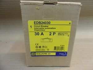 New In Box Square D Edb Edb24030 2 Pole 30 Amp 480y 277v Circuit Breaker