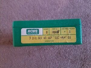 RCBS 3-die set. 45 ACP SWC RN Part # 18908. Used excellent condition
